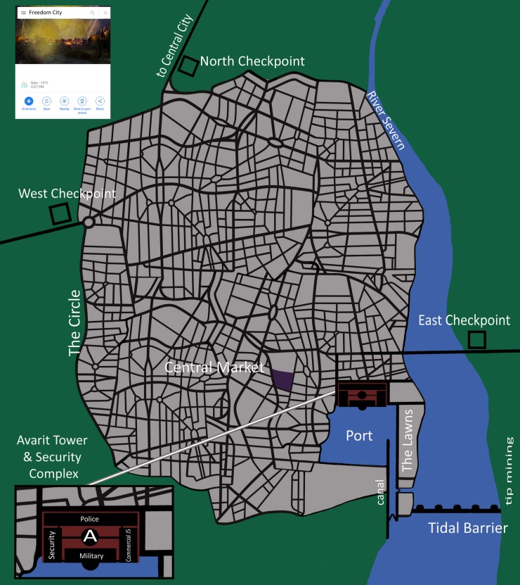 WP-0 Phoenix city map small